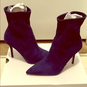Aldo Layswen Royal Blue Ankle Booties
